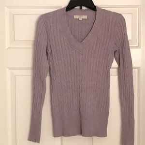 Loft  v neck sweater SZ S, 100% cotton